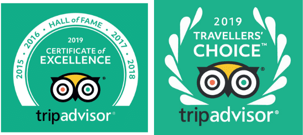 TripAdvisor 2019 travellers' choice